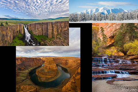 Collage of pictures showing pictures of different aspect ratios.