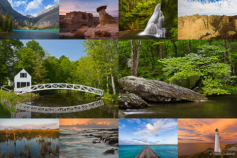 Collage of pictures showing pictures of different locations.