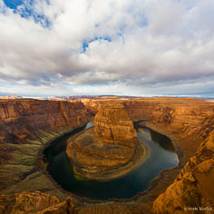The Colorado River flows around Horseshoe Bend outside of Page, Arizona.