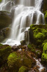 A section of Fairy Falls in the Columbia Gorge, outside of Portland, Oregon.