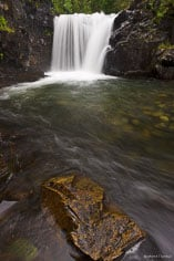 One of the many waterfalls along Oh Be Joyful Creek outside of Crested Butte, Colorado.