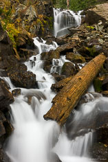 Falls on the East Fork of Dallas Creek high in mountains outside of Ridgway, Colorado.