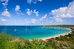 A grand view of Road Bay in Anguilla, BWI.