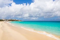 A tropical view of Mead's Bay in Anguilla, BWI.