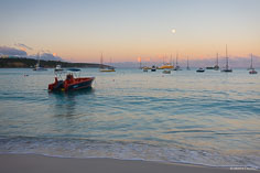Dawn comes to the harbor at Road Bay in Anguilla, BWI.