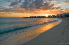 A golden sunset as seen at Shoal Bay West in Anguilla, BWI.