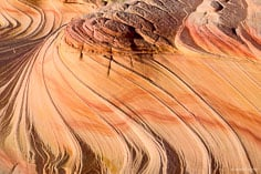 The colored sandstone swirls of The Second Wave in northern Arizona.