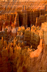 The multicolored spires look as if they have melted at Bryce Canyon National Park in Utah.