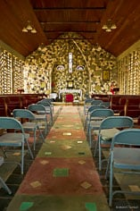 The inside of the tiny St. Gerard's Roman Catholic Church in Anguilla, BWI.