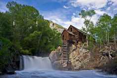 The skies clear after an early summer rain at the Crystal Mill outside of Marble, Colorado.