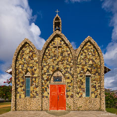 The original beautiful ornate St. Gerard's Catholic Church in Anguilla, BWI.