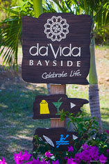 A sign at Davida Bayside invites guests to join the fun at Crocus Bay in Anguilla, BWI.