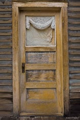 A weathered door in the ghost town of St. Elmo in central Colorado.