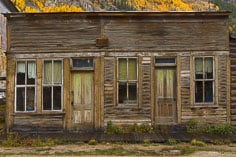 A dampened old building in the ghost town of St. Elmo in central Colorado.